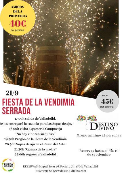 Fiesta de la vendimia en Serrada 21/09